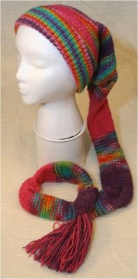 Knitting Pattern For Hat With Scarf Attached : Alpaca hat with attached scarf Alpaca products Pinterest