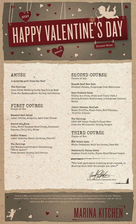 valentine day prix fixe nyc 2013