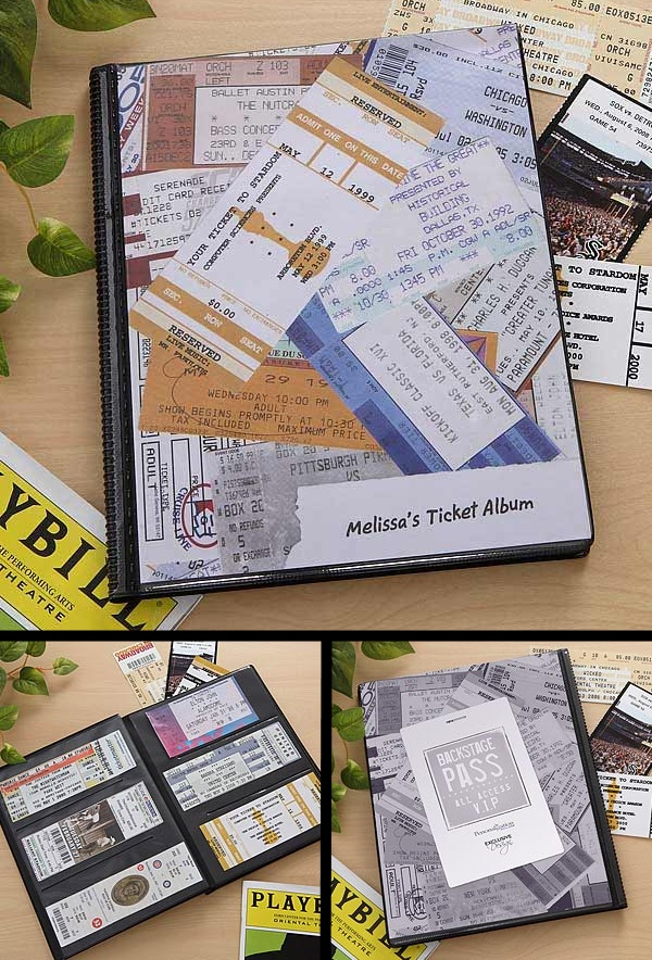 I've always saved my concert, plays and sporting event ticket stubs but never had a place to put them ... this My Stubs© Personalized Ticket Album is such a great way to preserve and display them ... After I fill it, I'm going to use it as a coffee table book so I can share my favorite concert memories! And it's only $22.95 at PMall! #Music #Concert #Ticket #Play #Sports
