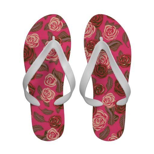 Vintage Roses #3 - Pink Flip Flops: pinterest.com/pin/198439927305604191