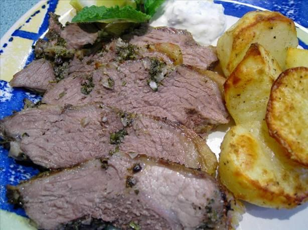 Grilled Butterflied Leg Of Lamb With Lemon, Herbs And Garlic Recipe ...