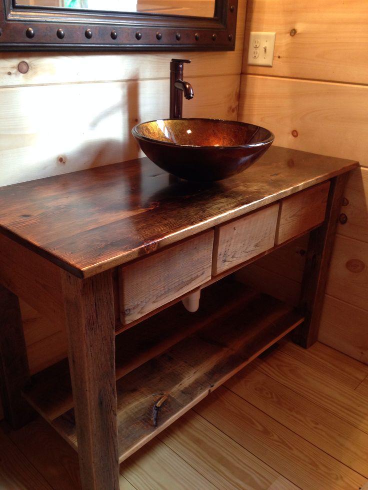 Old Barn Board Bathroom Vanity Basement Ideas Pinterest