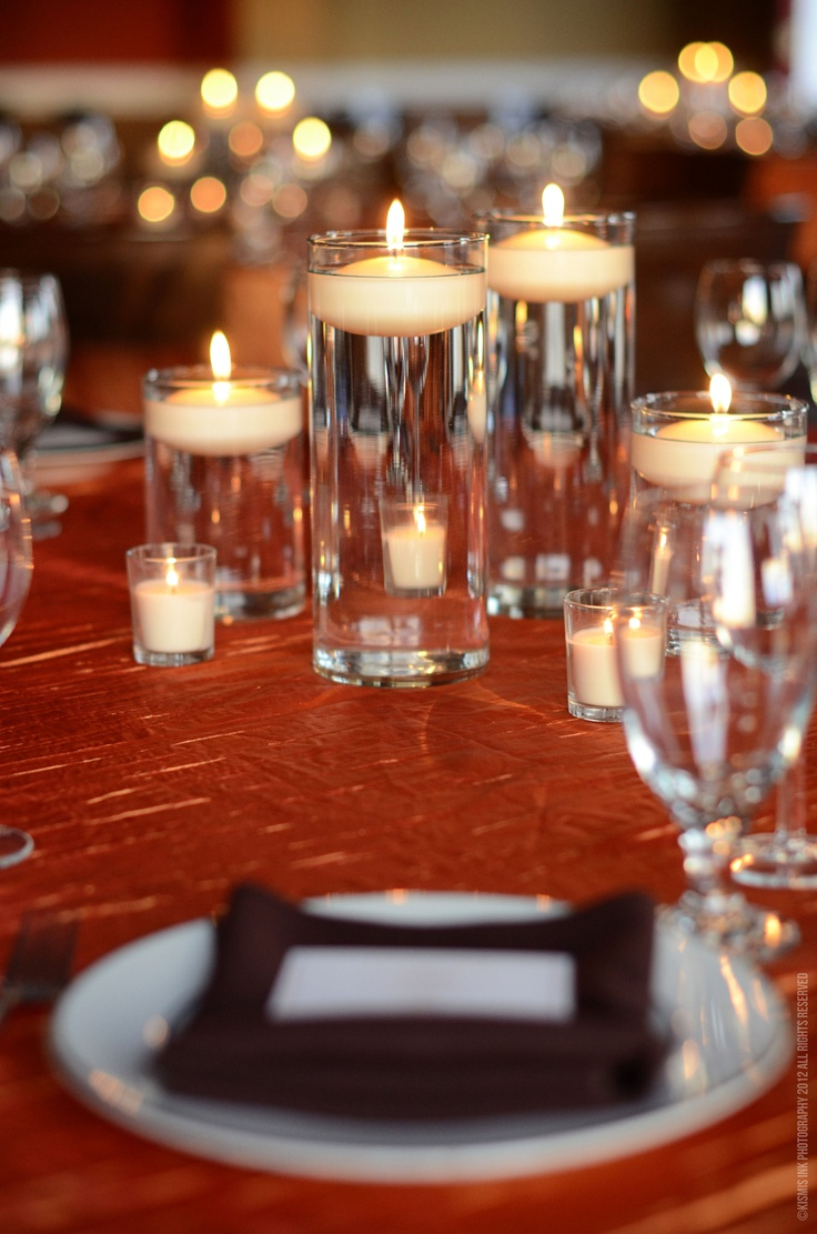 Floating candle centerpiece wedding pinterest for Candle centrepiece
