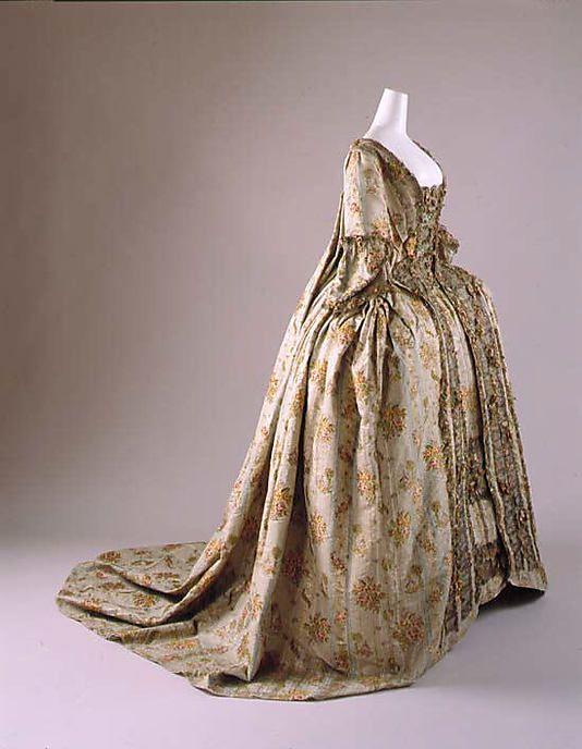 french silk dress 18th century my time machine pinterest