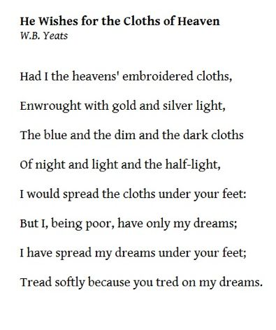 w b yeats poetry analysis The song of wandering aengus - i went out to the hazel wood.