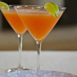 Cantaloupe martini! :) Our Chipper Chaps would love this mocktail.