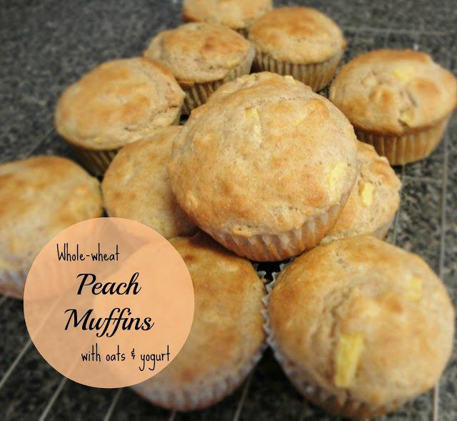 ... Kimberly Ann: Whole-wheat & Oat Peach Muffins (made with Greek yogurt