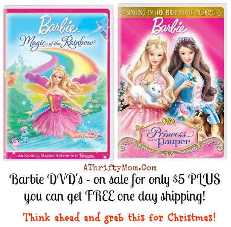 barbie dvd sale, free shipping, Amazon sale, Christmas gift idea. jpg