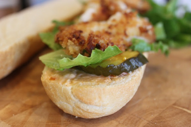 Fried Sole Sandwiches with spicy mayo | fish and seafood | Pinterest