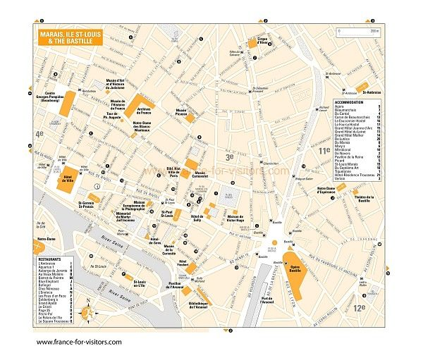 bastille paris on map