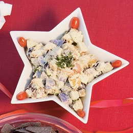 Patriotic Potato Salad - Made with Red, White and Blue Potatoes