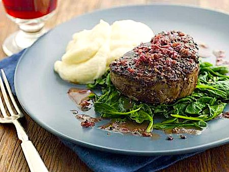 Father's Day Pepper-Crusted Filet Mignon   Foods & Drinks ...