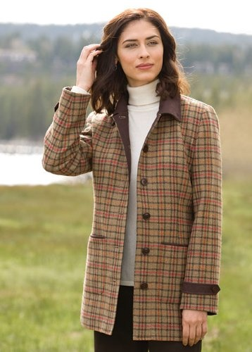 Irish tweed barn coat 279 00 relaxed women s outerwear