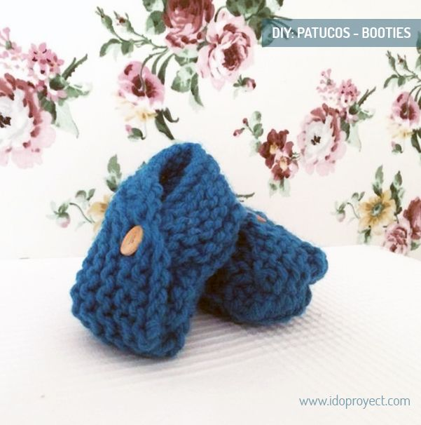 DIY: patrón patucos de punto _ knitted booties pattern