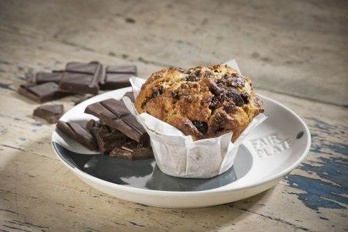 Fair Chocolate Muffins with Dried Cherry - http://www ...