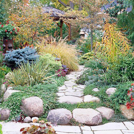 Garden path ideas flagstone walkways Ideas for garden paths