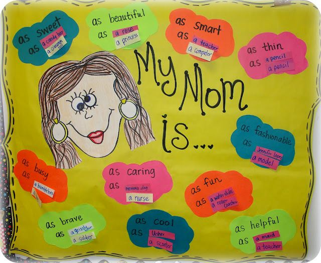 Mother's Day project turned simile lesson :)  -  Pinned by @PediaStaff – Please Visit http://ht.ly/63sNt for all our pediatric therapy pins