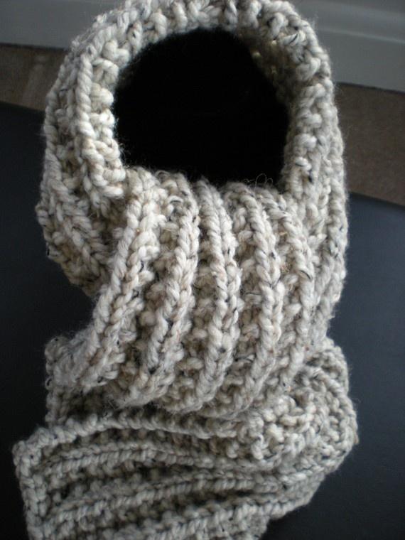 Knitting Pattern Scarf Chunky Yarn : Chunky Knit Scarf Knitting Pinterest