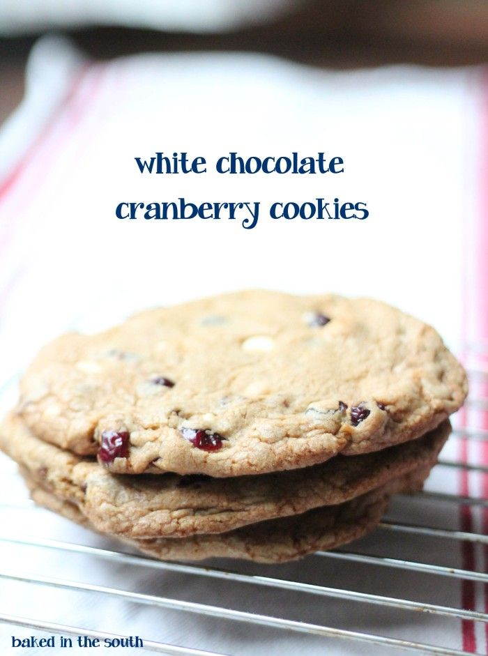 White Chocolate Cranberry Cookies | Food To Try -- Sweets | Pinterest