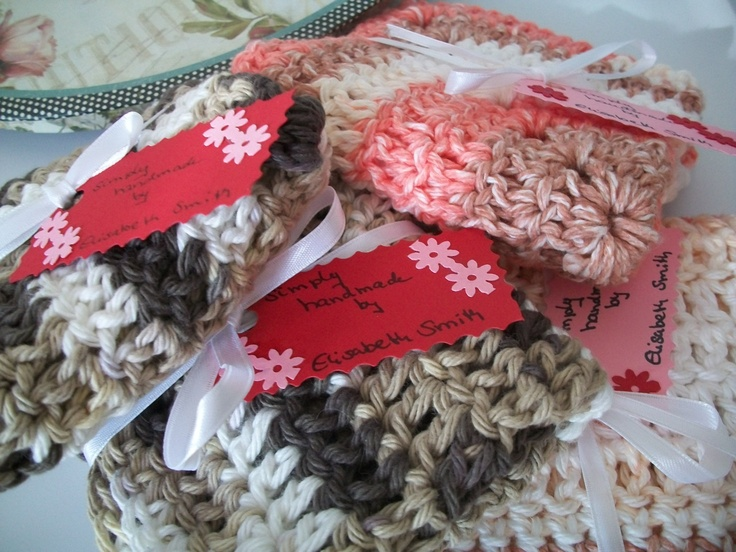 Crochet Dish Rags ElisabethsDesigns Pinterest