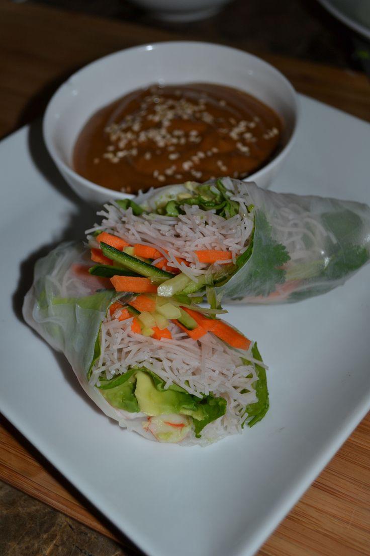 Vietnamese Style Summer Rolls with a Peanut Dipping Sauce #SummerRolls ...