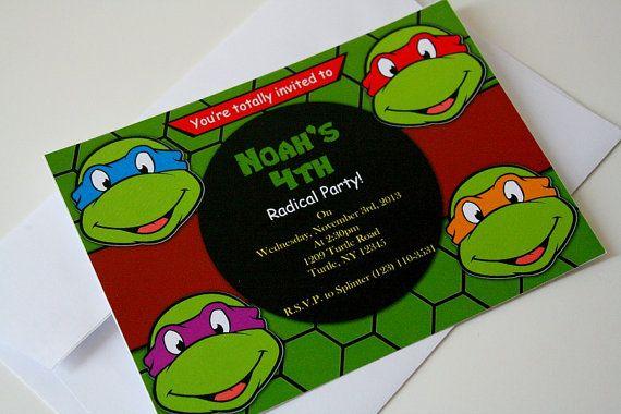 Tmnt Birthday Invitations with adorable invitations design