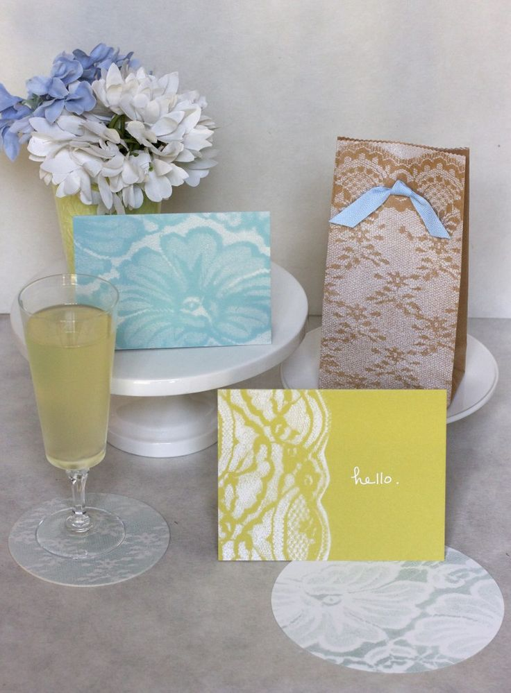 Spray Painting with Lace: http://familycircle.com/momster/blog/spray-painting-with-lace# #DIY #Craft