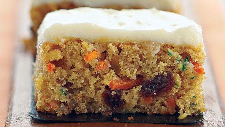 Healthified Carrot and Zucchini Bars   Recipe