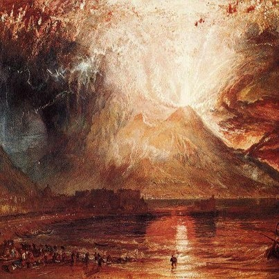 William Turner, L'eruzione del Vesuvio (1819).