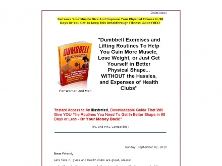 Dumbbell Routines & Exercises | Welcome2Health | Pinterest