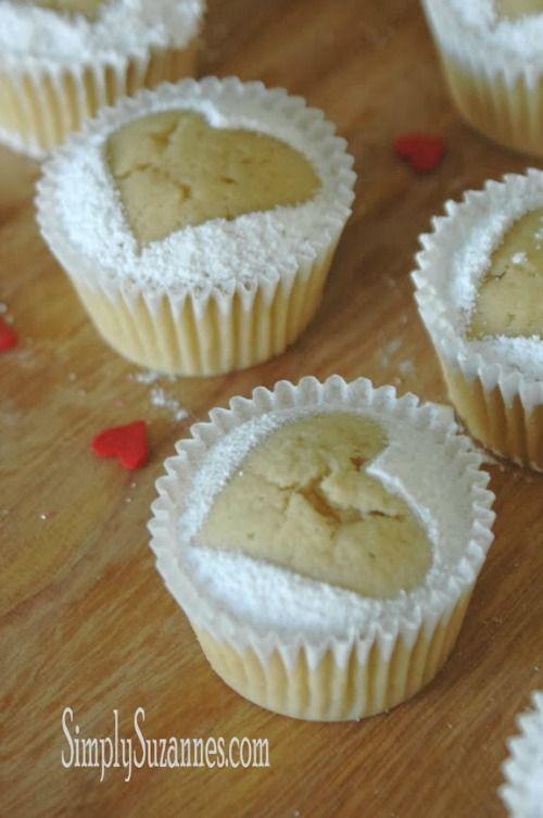 Vanilla Bean Pound Cake Heart Cupcakes #CelebrateValentinesDay