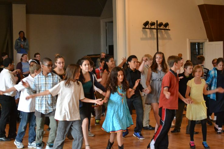 Tamarack students perform the cha cha dance.