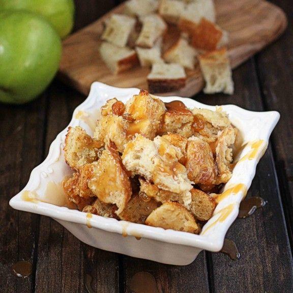Boozy Caramel Apple Bread Pudding | Recipe
