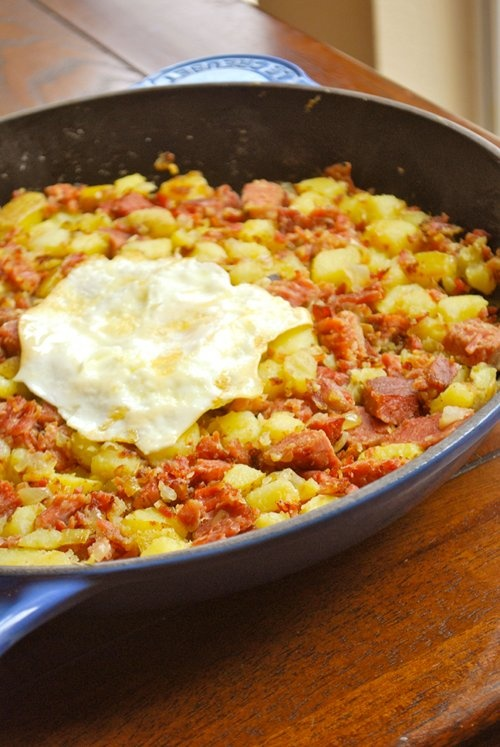 homemade corned beef hash. i think the husband would like this.