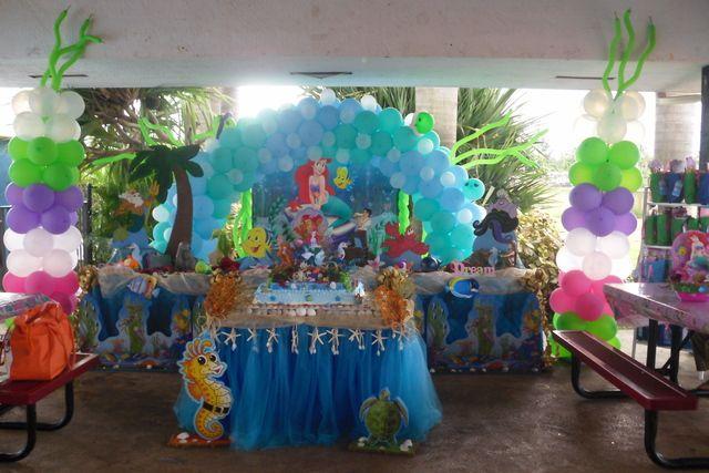 Little mermaid birthday party ideas for Ariel decoration