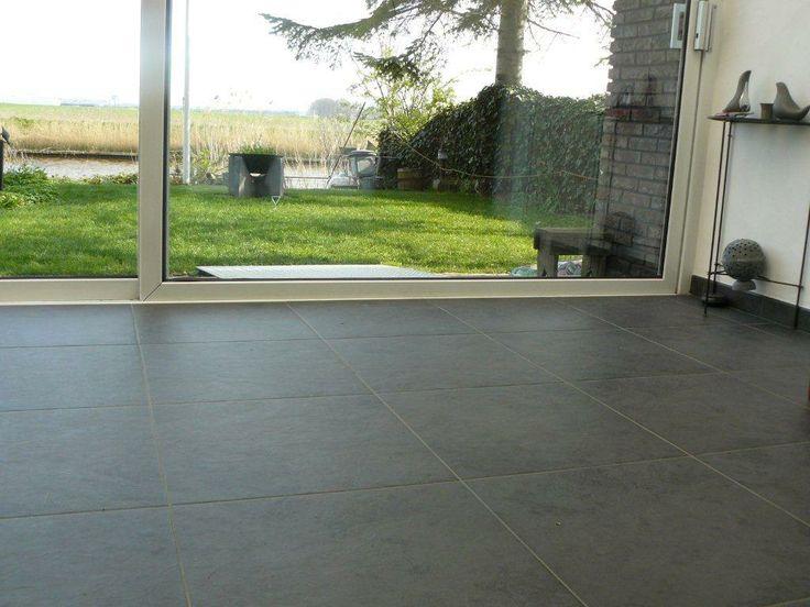 Zwarte imitatie leisteen 60x60 tegel interior pinterest - Faience imitatie leisteen ...
