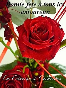 St Valentin rose rouge