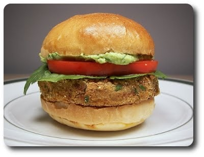 Bean Burgers with Spicy Guacamole | Yum | Pinterest