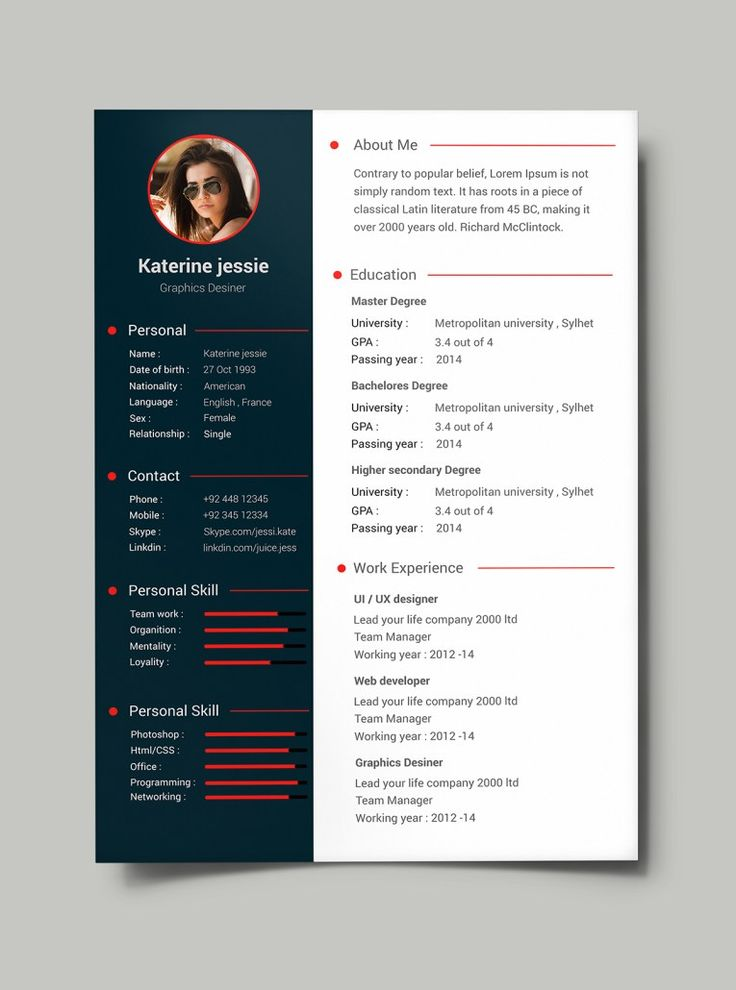 Business resume templates solarfm business resume templates yelopaper Gallery