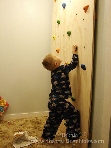 Climbing wall.