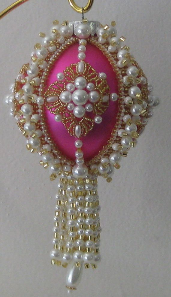 Beaded Ornament Cover Pattern Fantasy by Beadingornamentals, $6.00