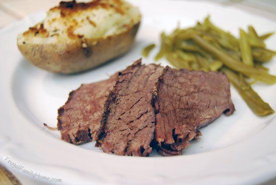 Easy Crock Pot Roast Beef - Frugal Family Home