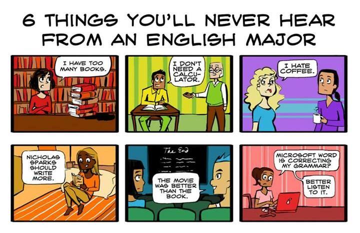 English majors ... So true!