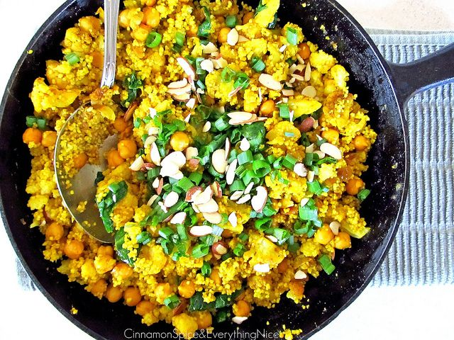 Curried Chickpea and Cauliflower Couscous | Cinnamon Spice ...