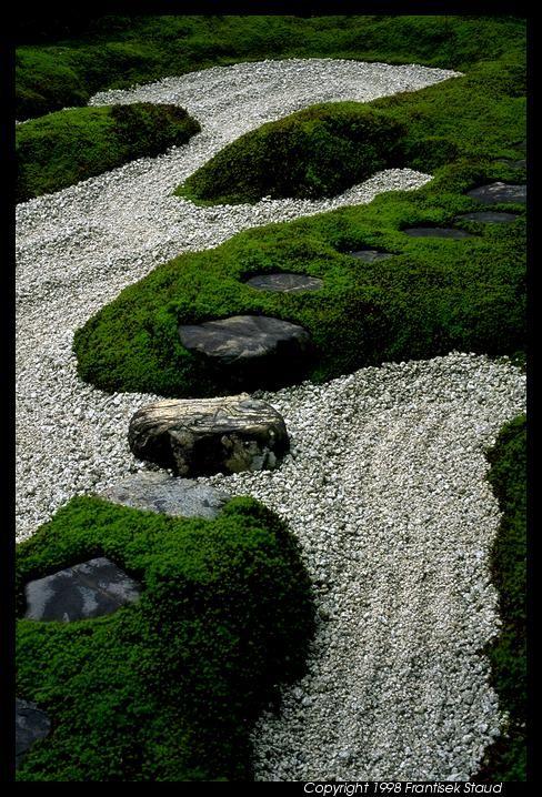 Rock Garden In Zuiho In Temple Kyoto Create A Zen