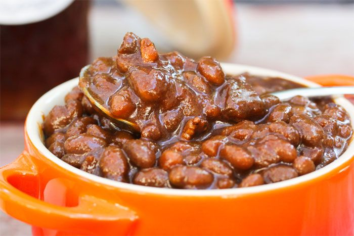 Slow-Cooked Molasses-Honey Baked Beans | Recipe
