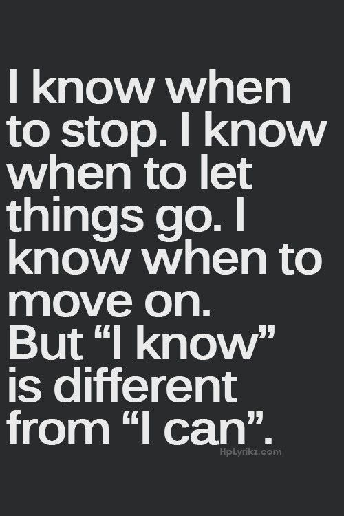 Sometimes we have to make difficult decisions in life, even when they hurt. If only everyone was able to let go and move...