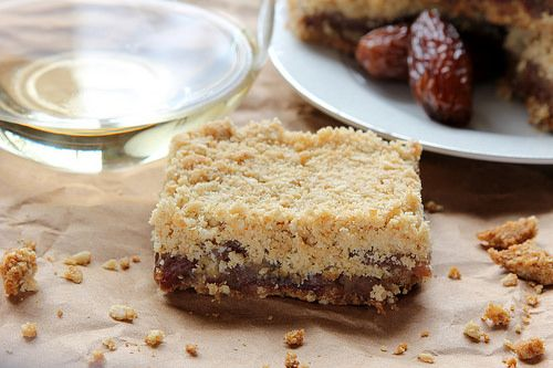 Wine & Date Crumble Bars by Peaceful Bend. A delicious bar cookie that ...