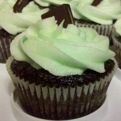 Mint Buttercream Frosting With Dark Chocolate Glaze Allrecipes.com Add ...