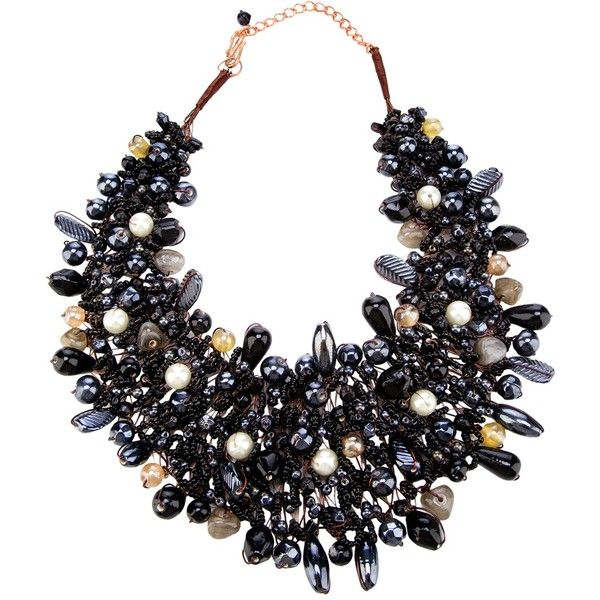TWIST'N'SCOUT beaded necklace ($130) ❤ liked on Polyvore